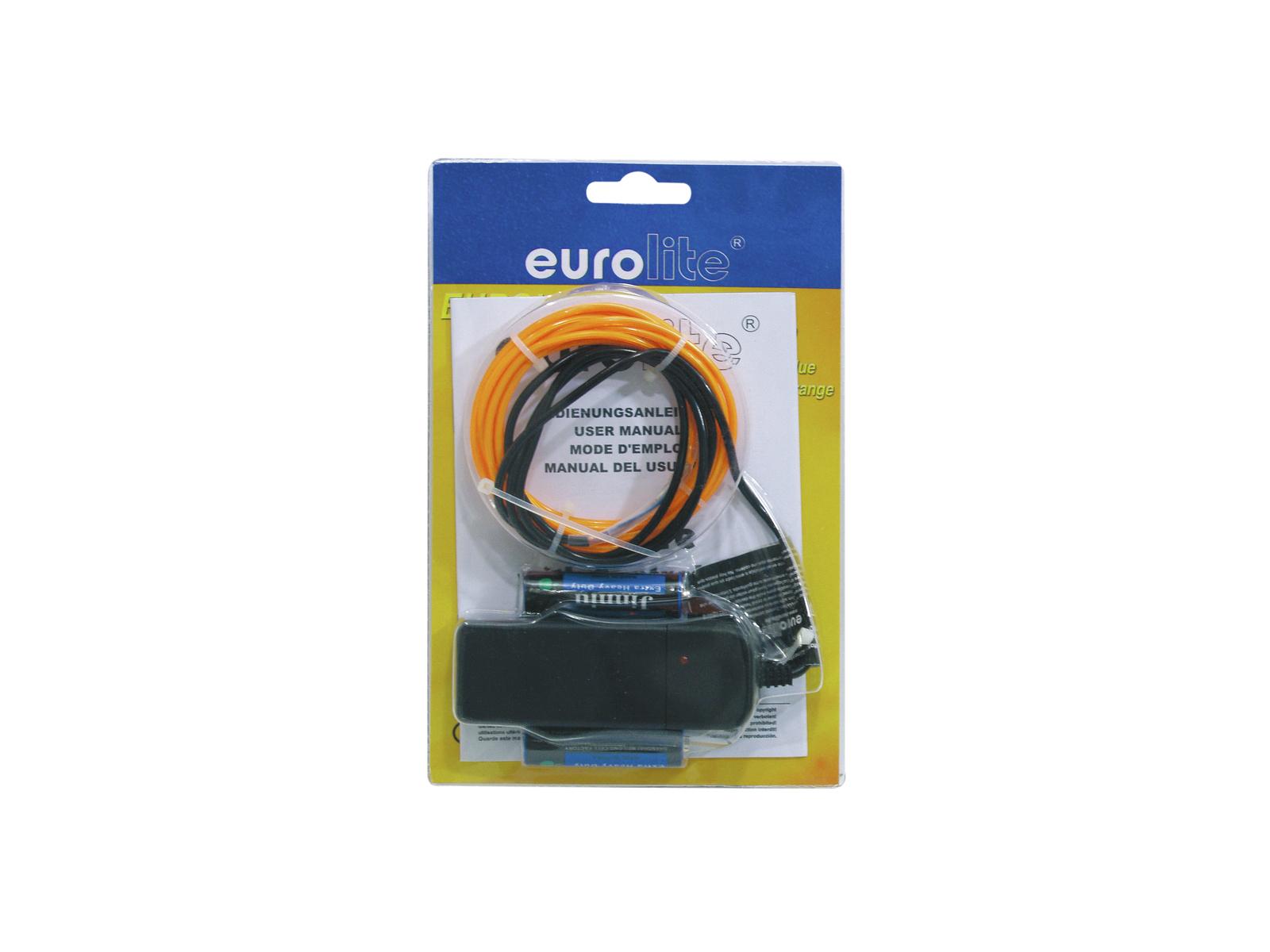 EUROLITE EL-Schnur 2mm, 2m, orange