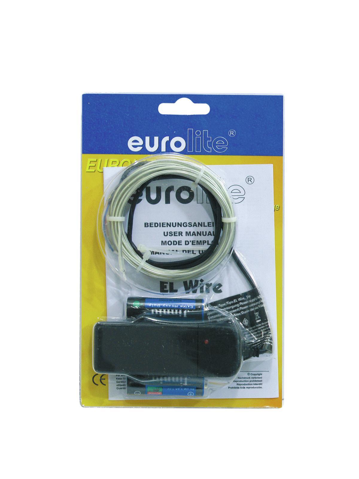 EUROLITE EL-Schnur 2mm, 2m, weiß, 6400K