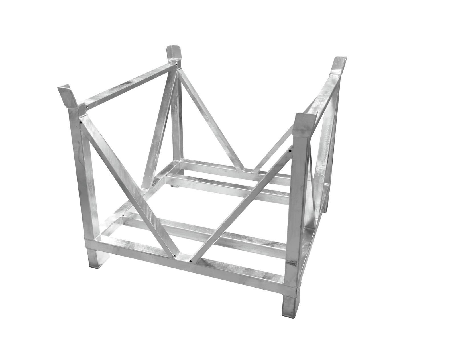 ALUTRUSS Carrello per trasporto americana traliccioin acciaio quadrato 80x80