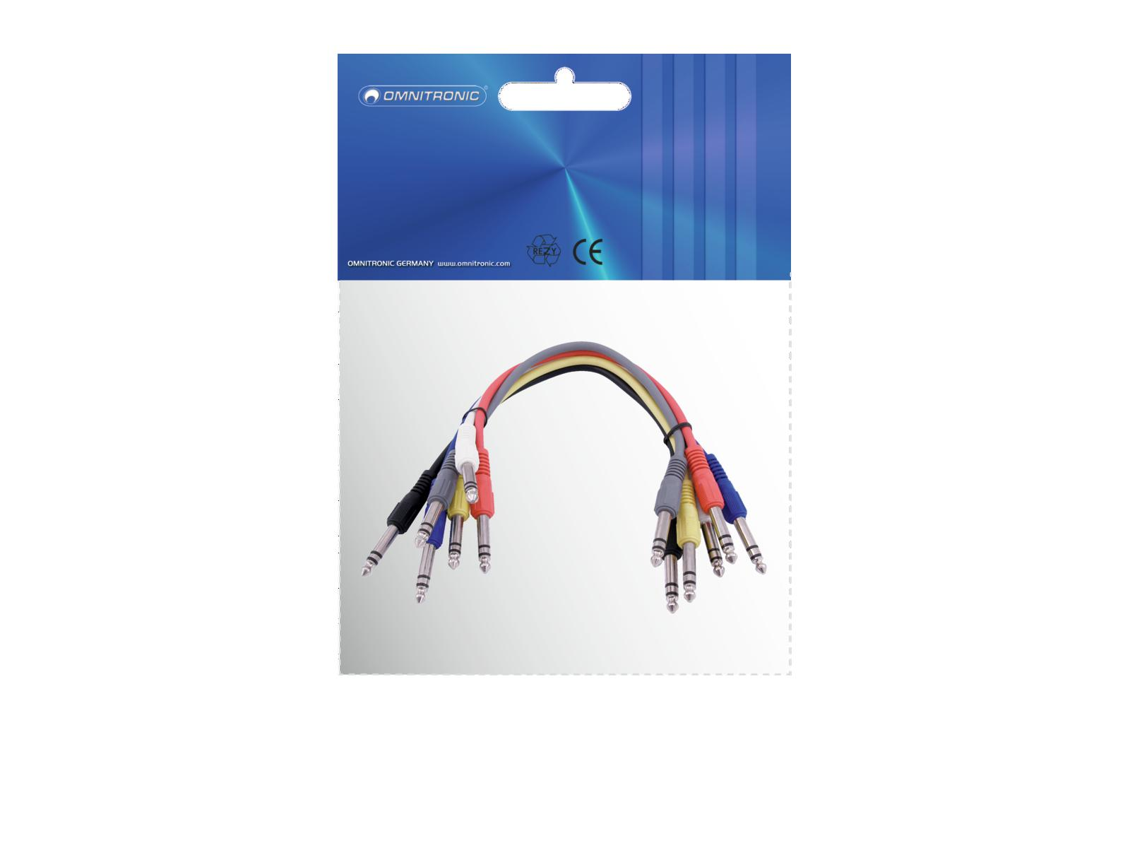 OMNITRONIC cavo Jack 6.3 cavo Adattatore stereo 6x0.6m