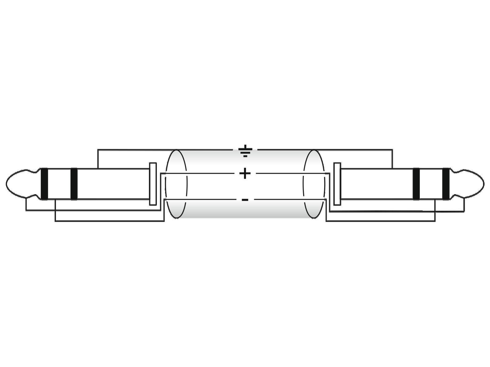 OMNITRONIC cavo Jack 6.3 cavo Adattatore stereo 6x0.9m
