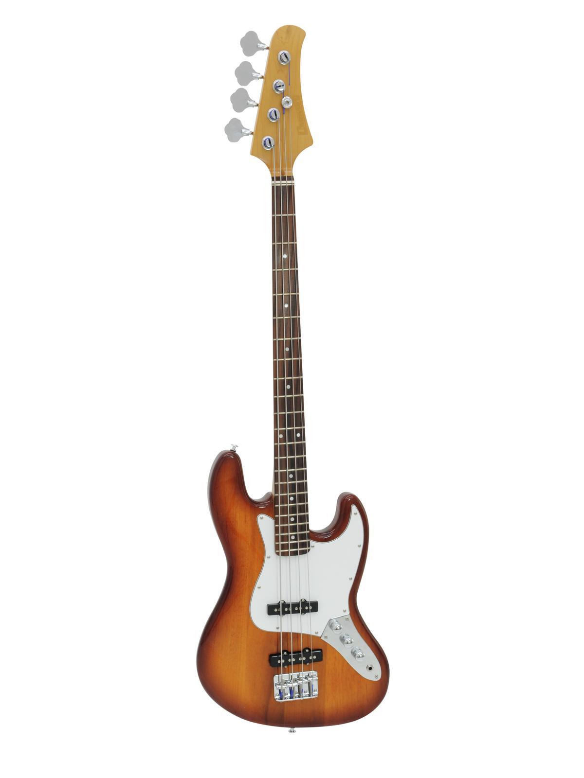 Basso Elettrico 4 corde Colore sienna sunburst E-Bass DIMAVERY JB-302