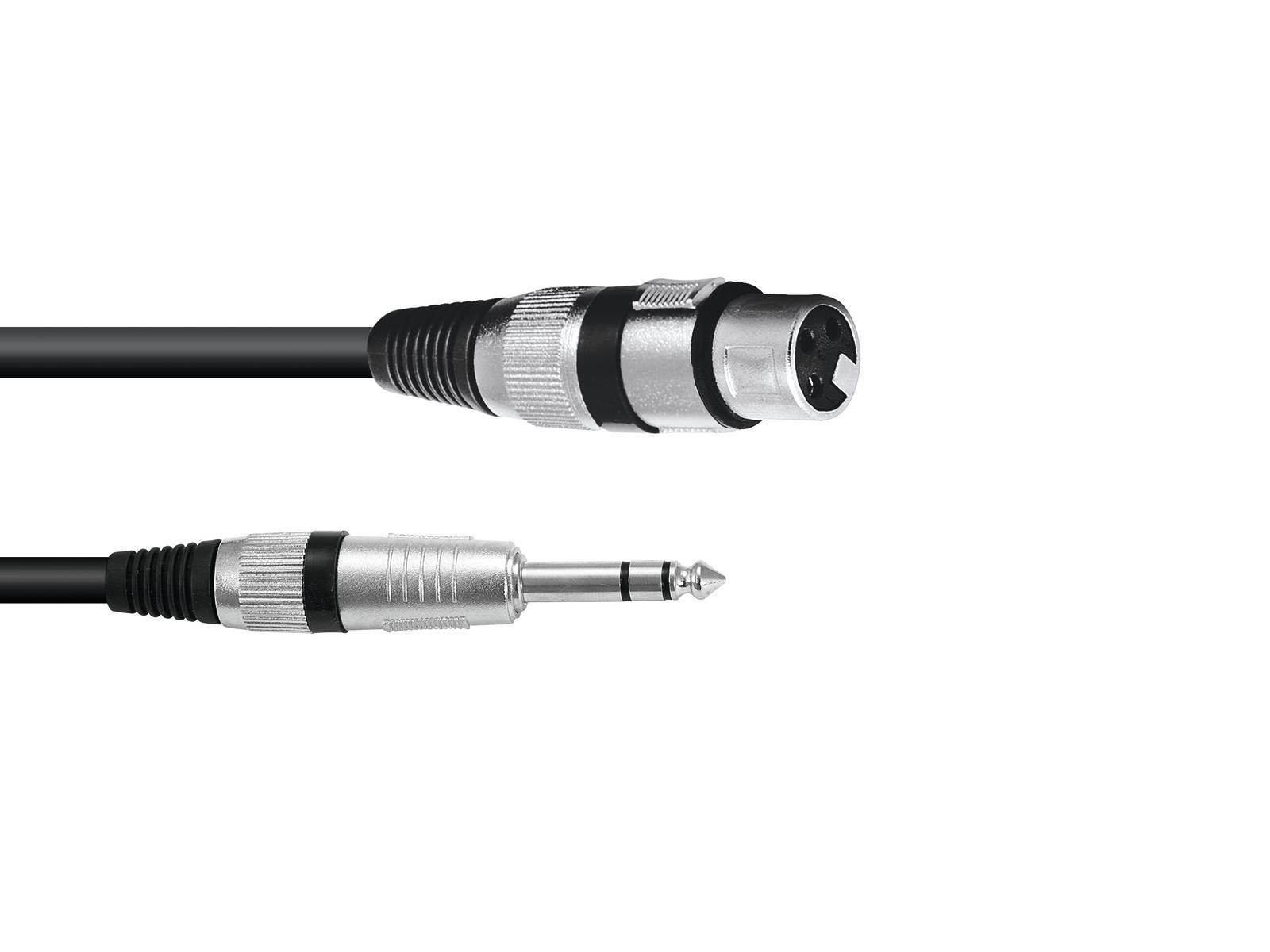 OMNITRONIC Adaptercable XLR(F)/Jack stereo da 0,2 m bk