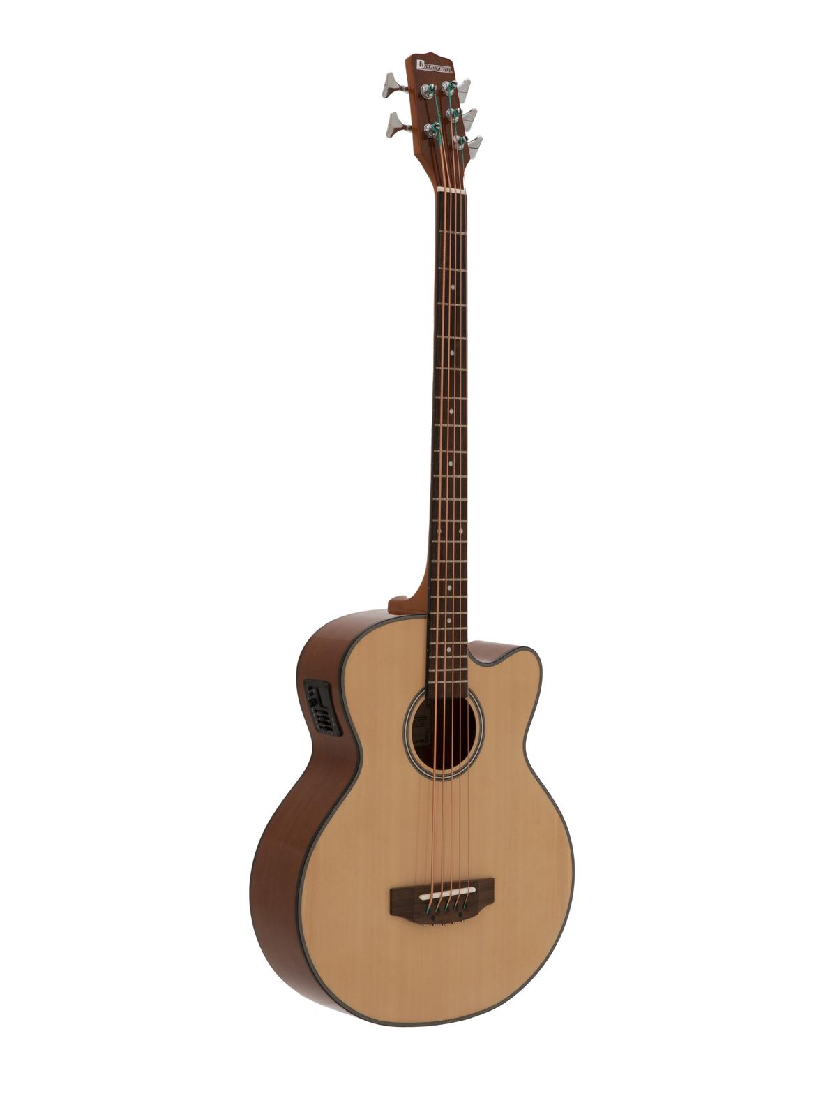 DIMAVERY AB-455 Akustikbass, 5-saitig, natur