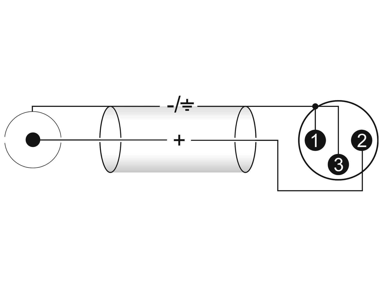 OMNITRONIC Adaptercable RCA/XLR(M) 0,6 m bk