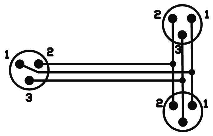 OMNITRONIC Adaptercable XLR(M)/2xXLR(F) bk di 3m
