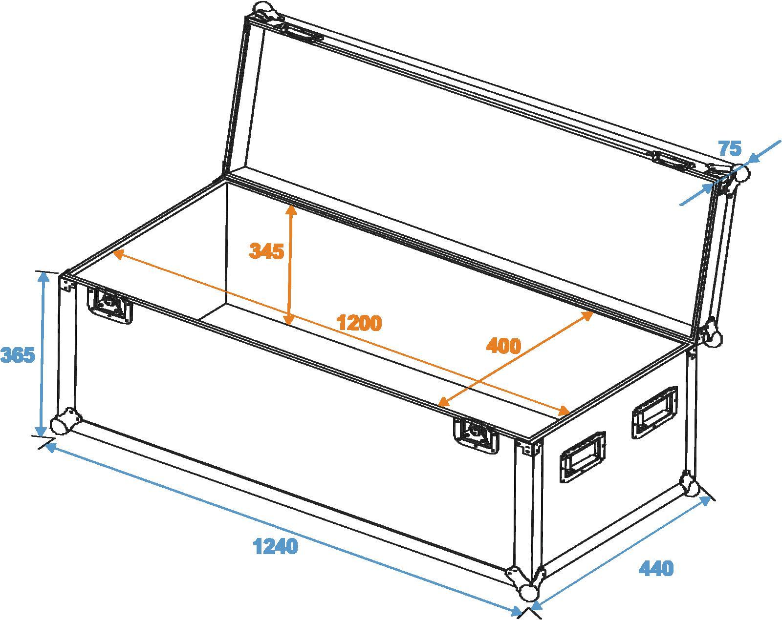 ROADINGER Universale caso Profi 120x40x40cm