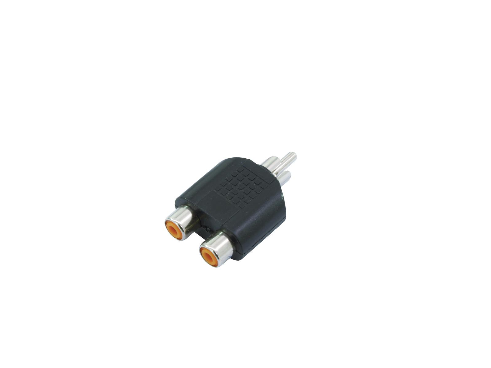OMNITRONIC Adattatore 2xRCA(F)/RCA(M) 10x