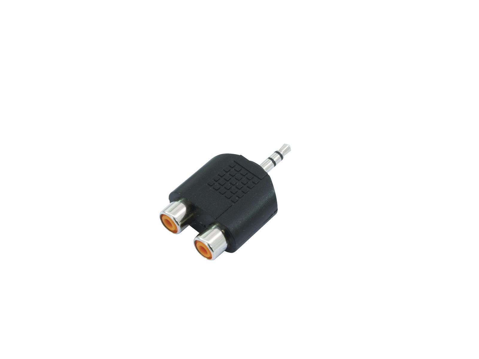 OMNITRONIC Adapter 2xCinch(F)/3,5 Klinke stereo 10x
