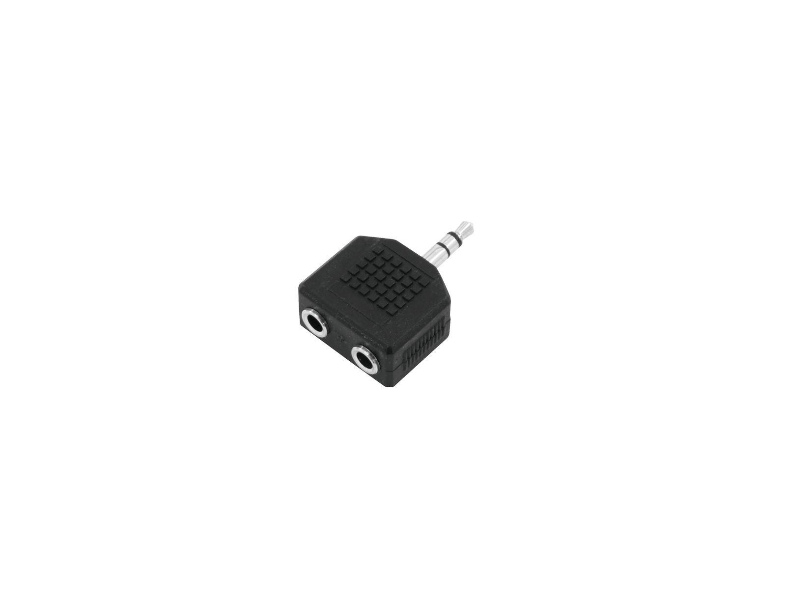 Adattatore Audio Mini jack 3.5 M a 2 Jack 3.5 F 10 Pezzi Omnitronic
