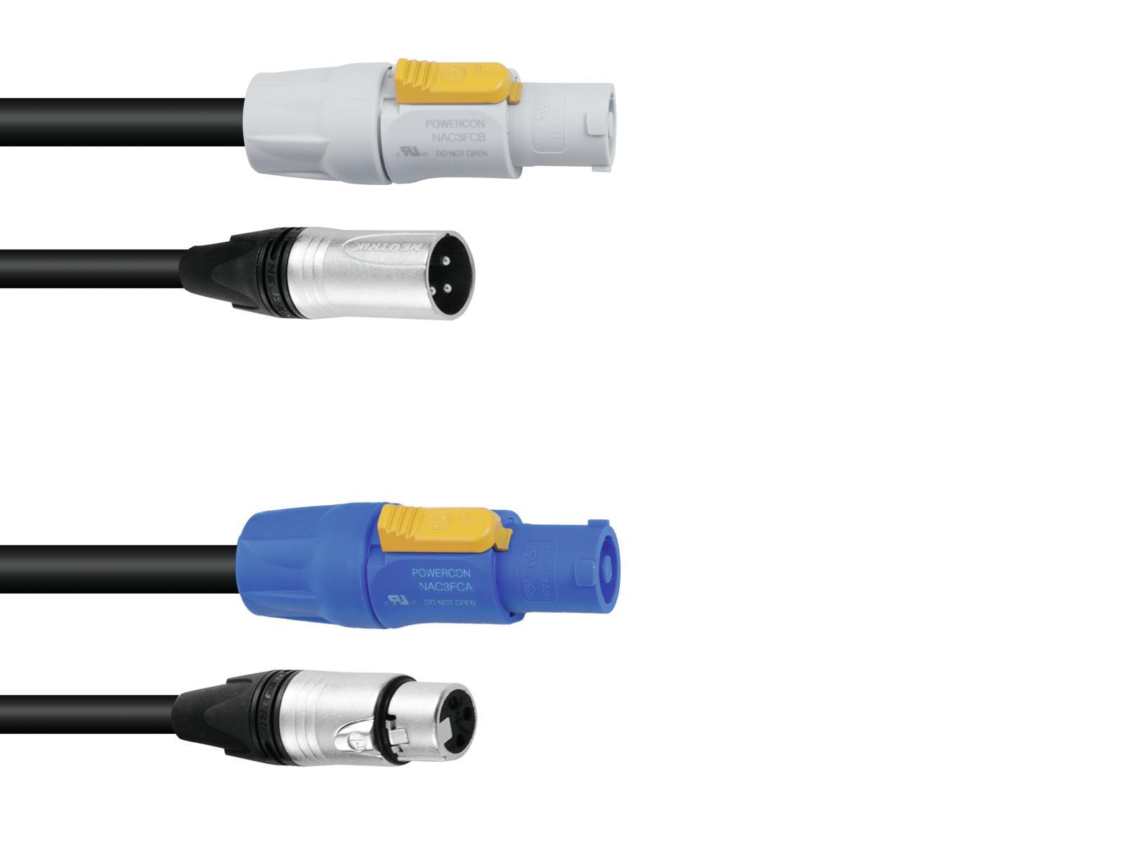 PSSO Combi cavo DMX PowerCon/XLR 10m