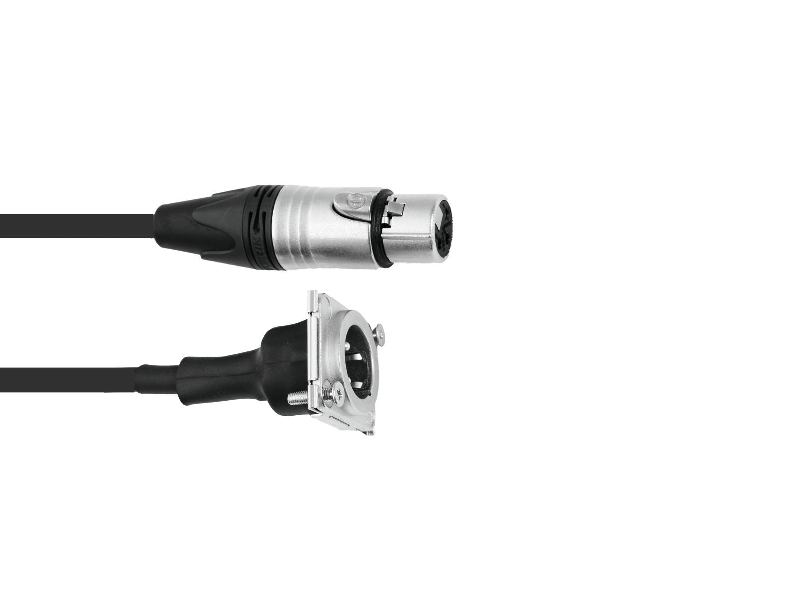 PSSO Patch Cavo XLR(F)/XLR(M) S 1m bk