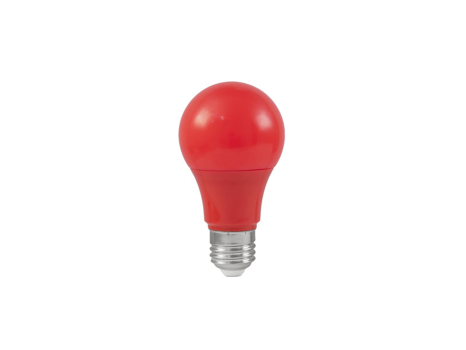 Lampada a led rossa A60 230V 3W E-27 3200K OMNILUX