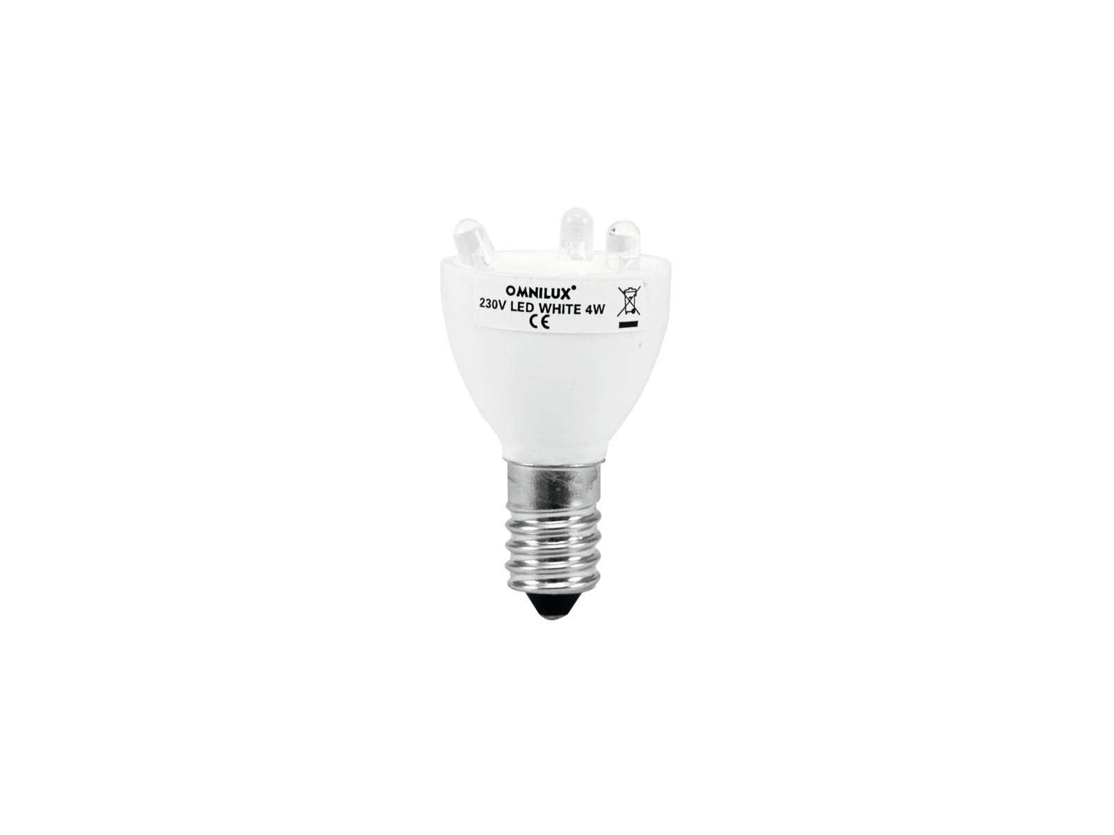 Lampadina a LED con diodi bianchi 230V E-14 3 OMNILUX