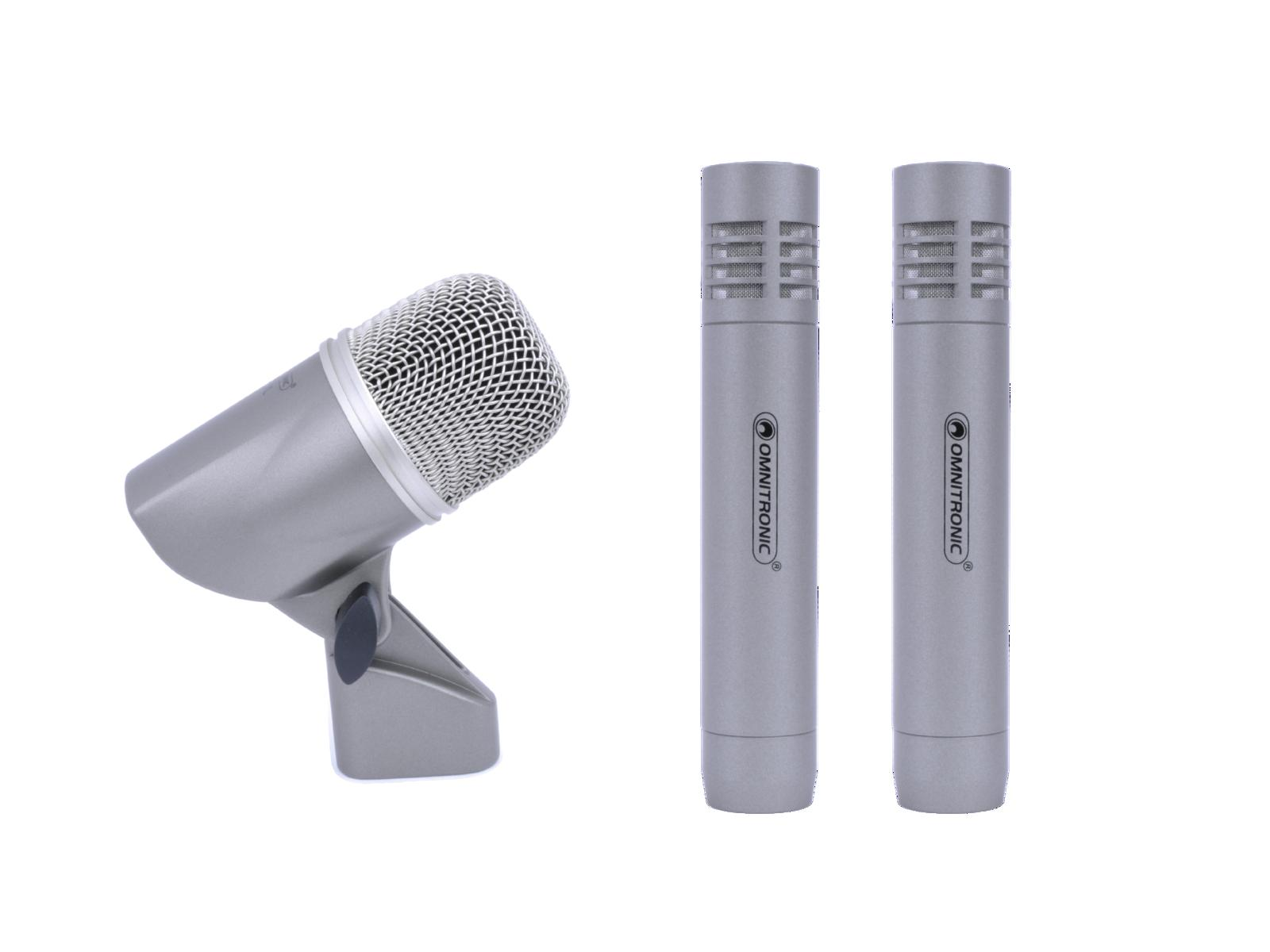 OMNITRONIC MIC 77-3LH Drum set microfono