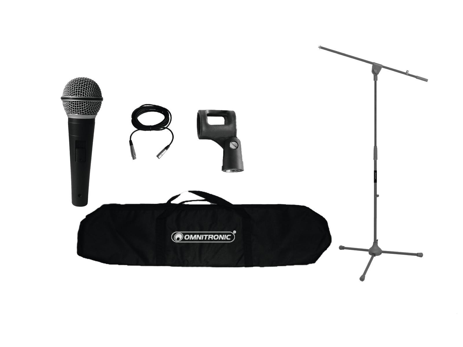 Set Kit Microfono Asta cavo e