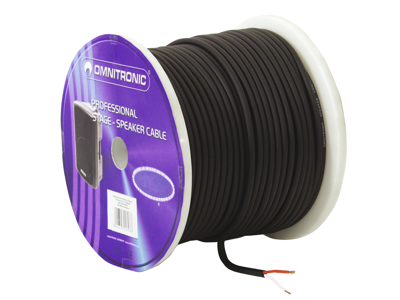 Cable Bulk Coil Coil For Speakers 100 MT 2 x 1.5 Omnitronic