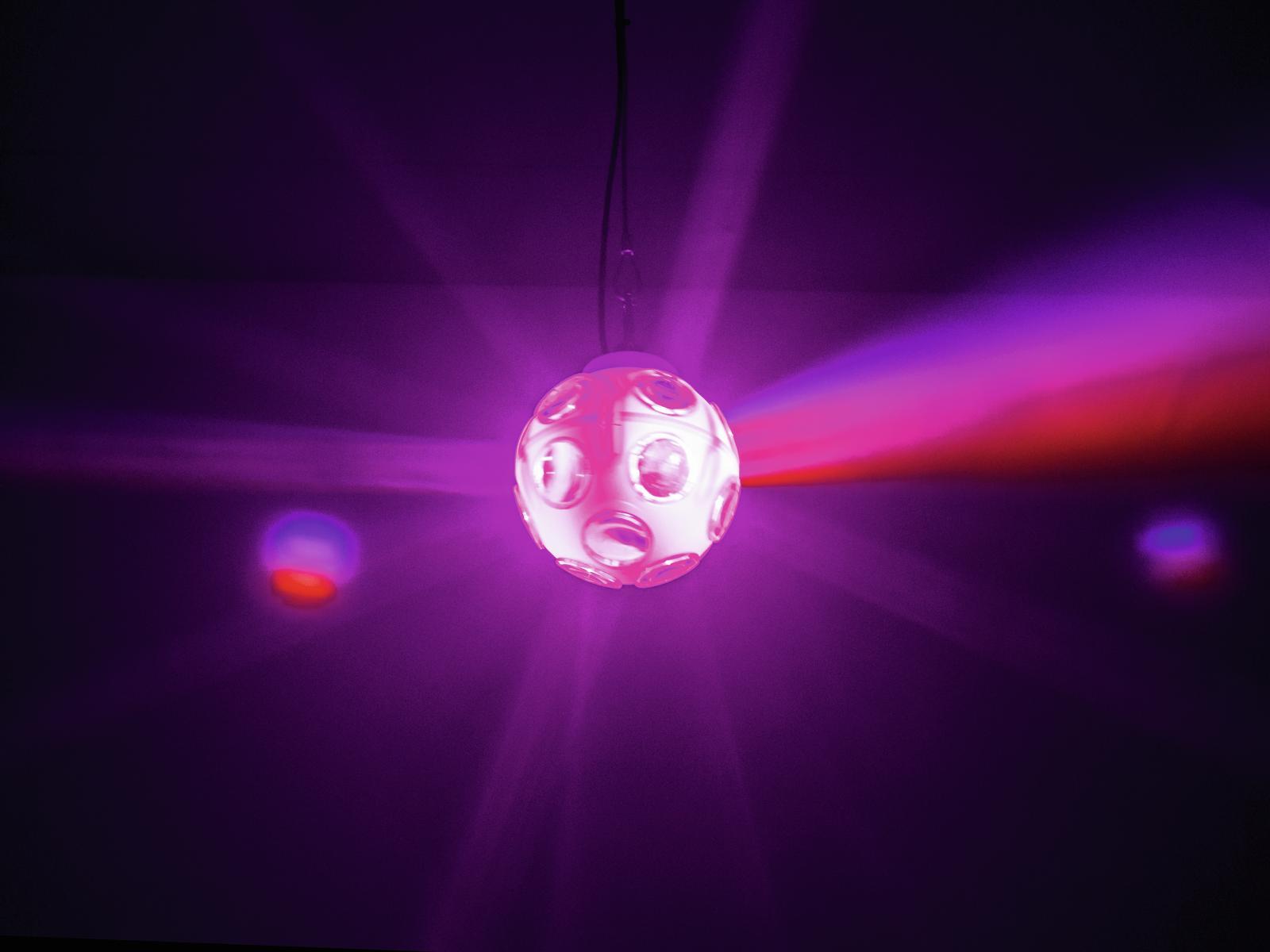 EUROLITE LED SFERA illuminante da interno a esterno colorata 20 cm