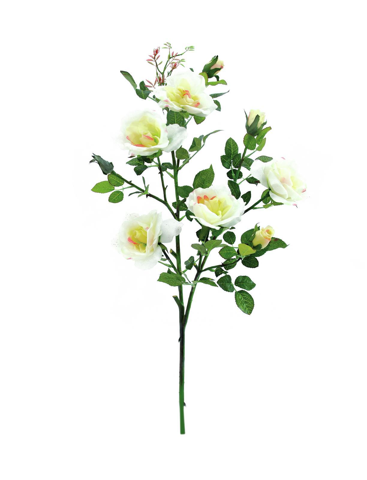 EUROPALMS Rose ramo, bianco, 90cm