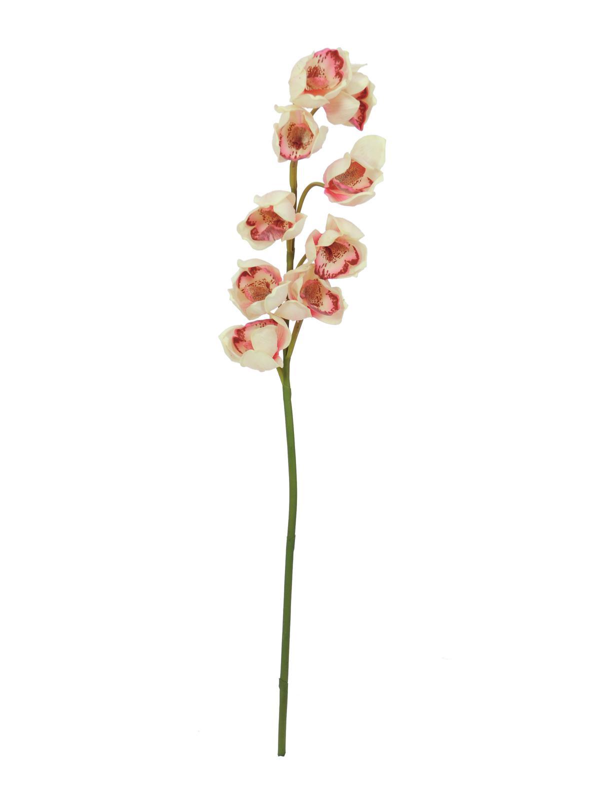 EUROPALMS Cymbidiumzweig, künstlich, creme-pink, 90cm