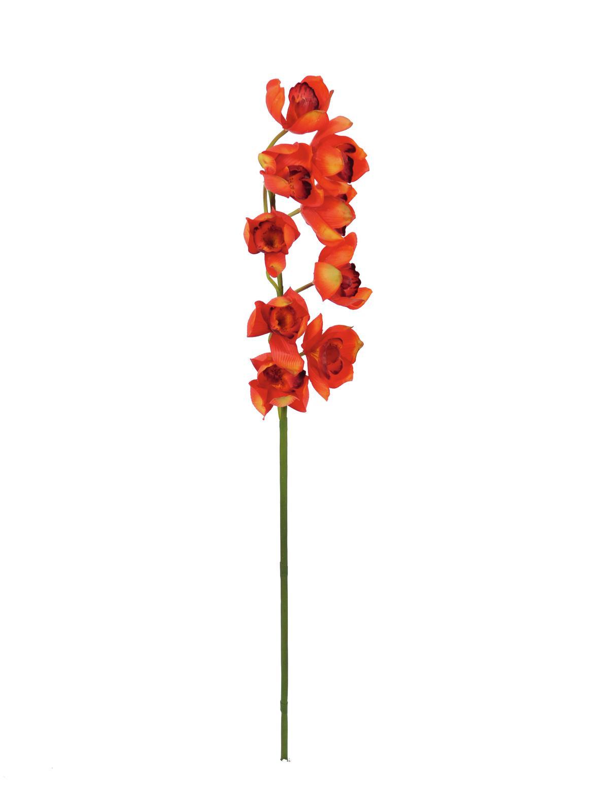 EUROPALMS Cymbidiumzweig, künstlich, rot, 90cm