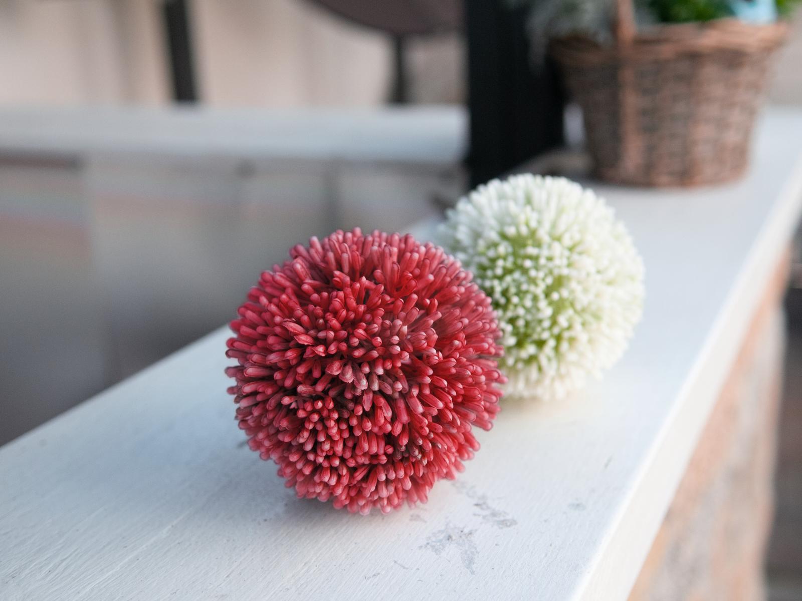 EUROPALMS Alliumzweig, künstlich, rot, 55cm
