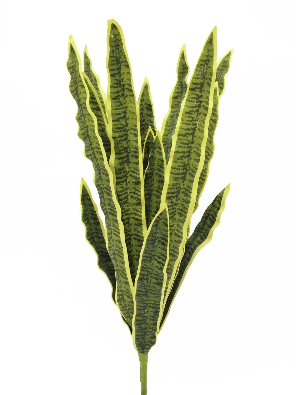 EUROPALMS pianta artificiale Sansevieria (EVA),  colore verde-giallo altezza 60 cm