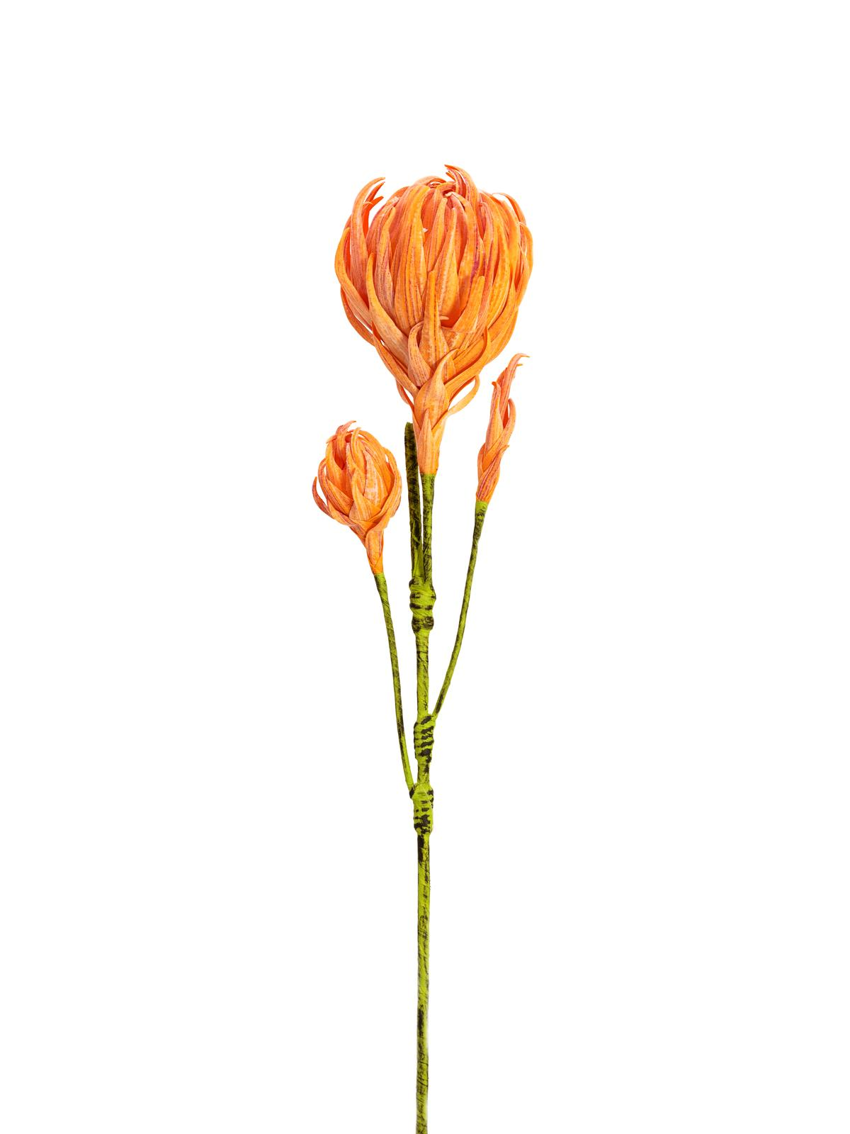 EUROPALMS Dahlienzweig (EVA), künstlich, orange