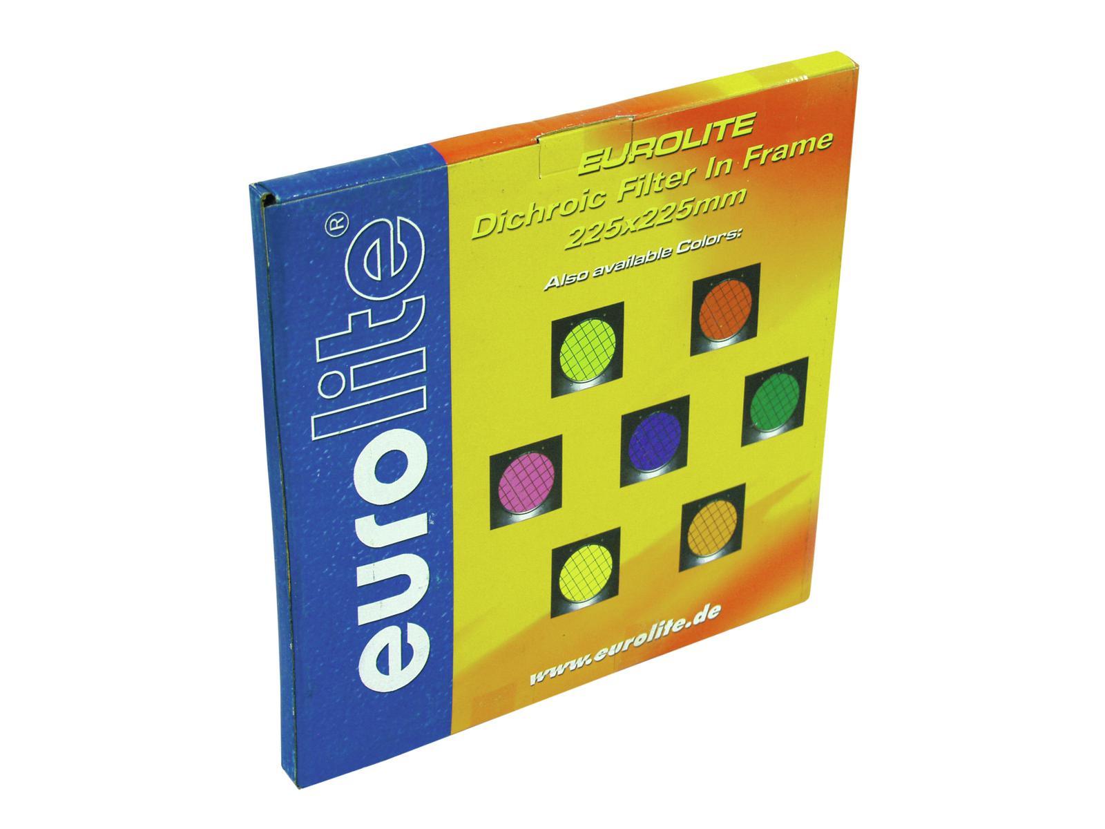 Filtro Frontale dicroico Per Faro Luce Par-56 verde con cornice nera Eurolite