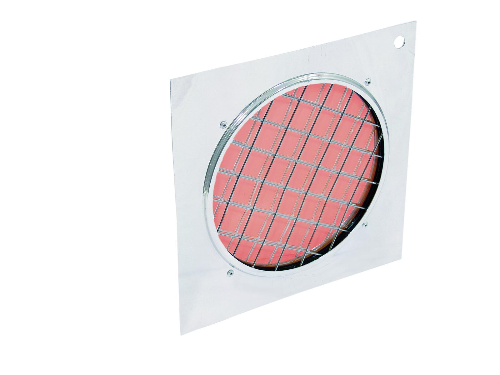EUROLITE Dichro-Filter rot, Rahmen silber PAR-56