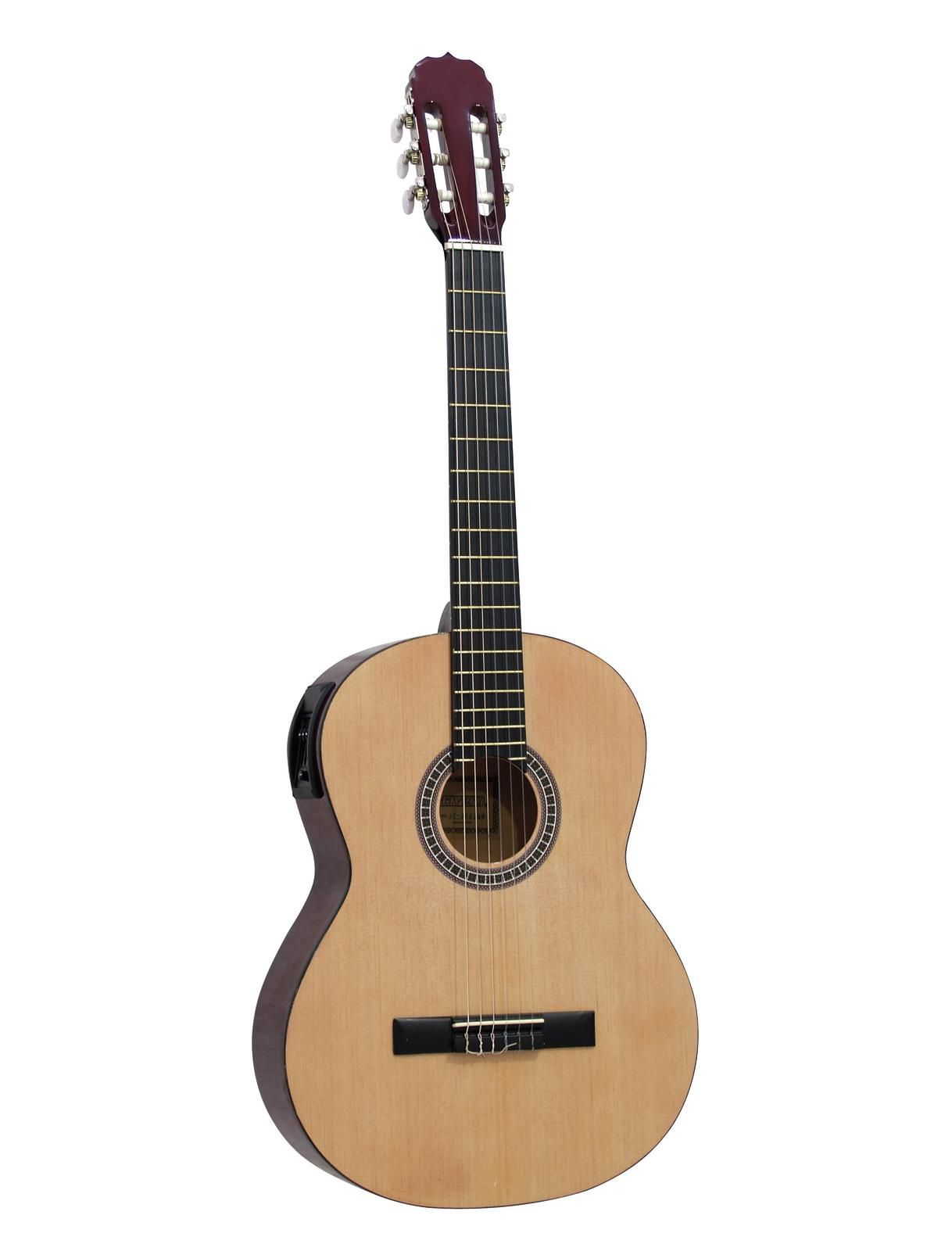 DIMAVERY AC-E300 chitarra classica, natura