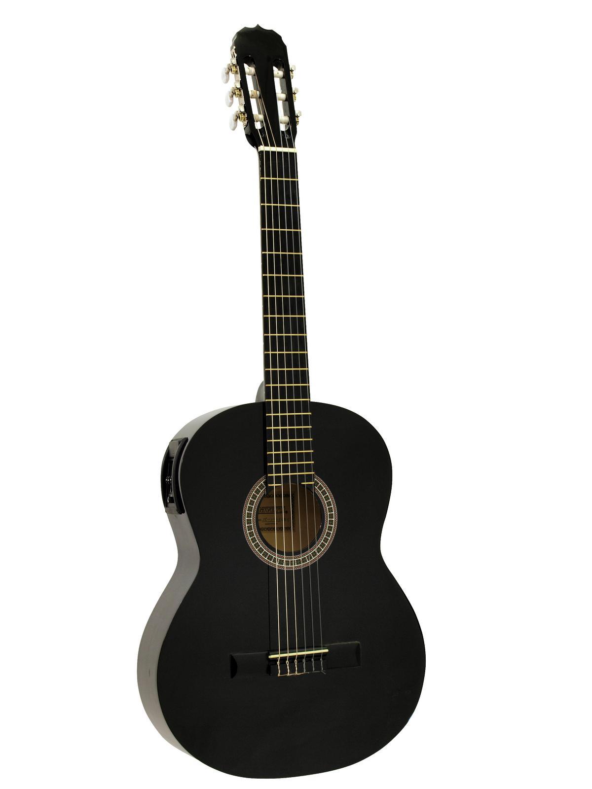 DIMAVERY AC-E300 chitarra classica, nero