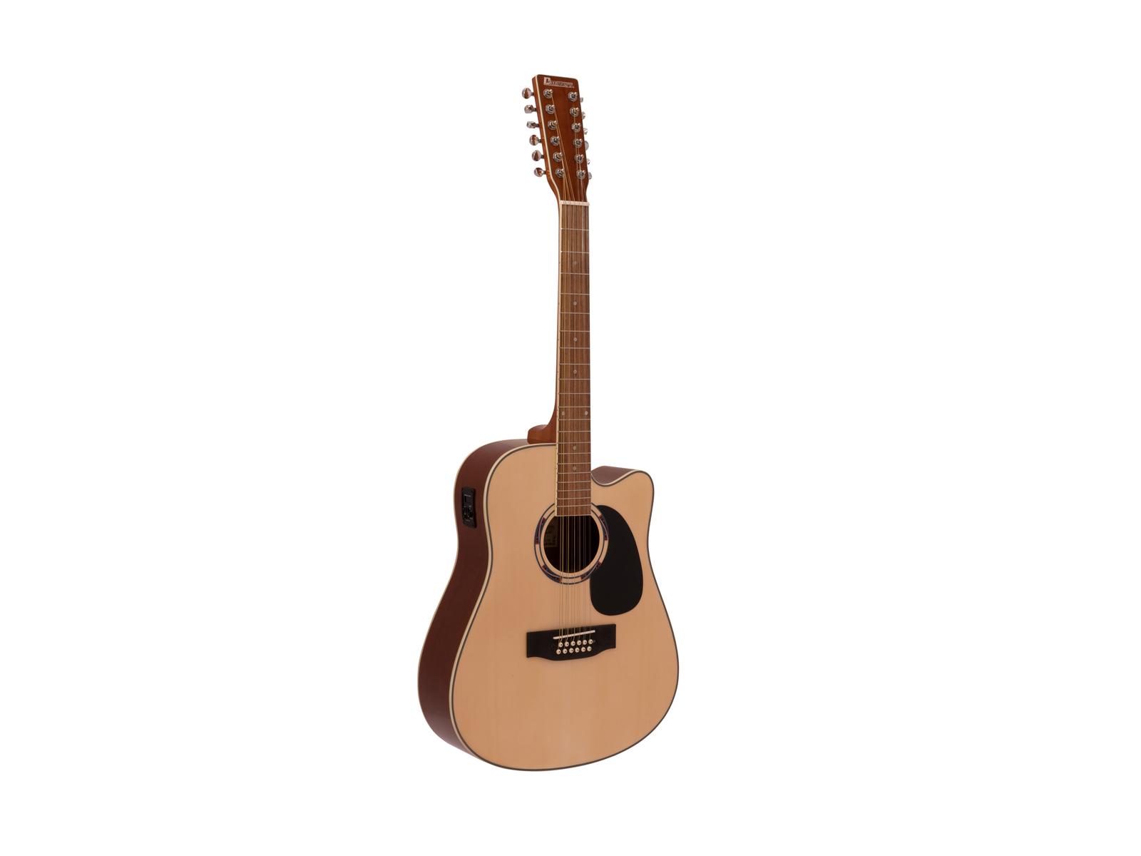 DIMAVERY DR-612 Occidentale, chitarra 12 corde, natura