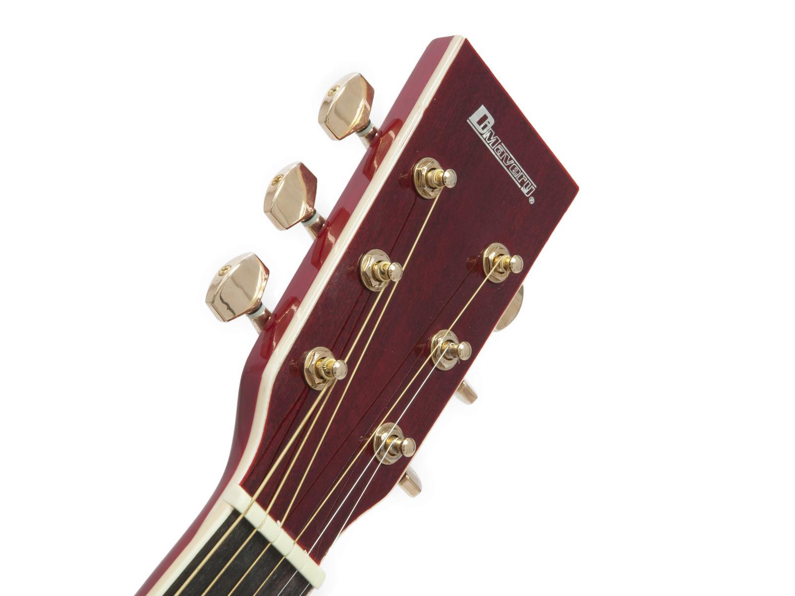 Chitarra acustica, western, colore cutaway rosso, abete, DIMAVERY JH-500