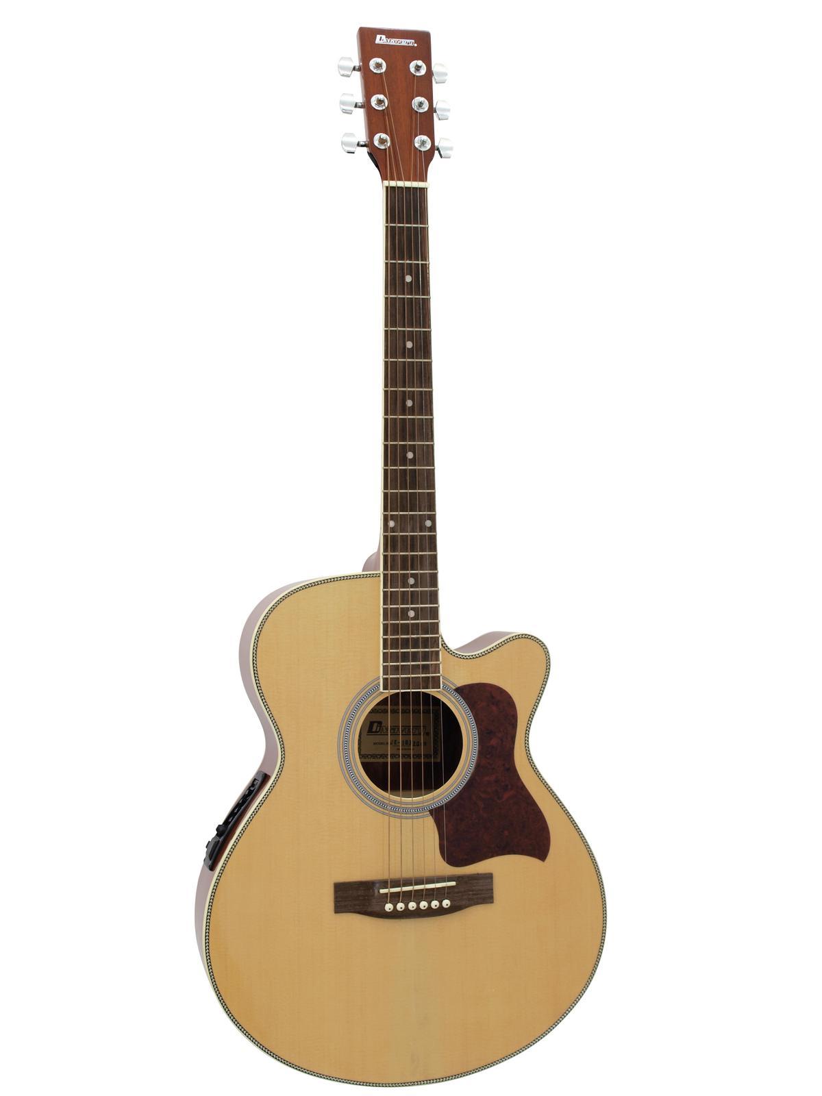 DIMAVERY JK-303E cutaway chitarra, natura