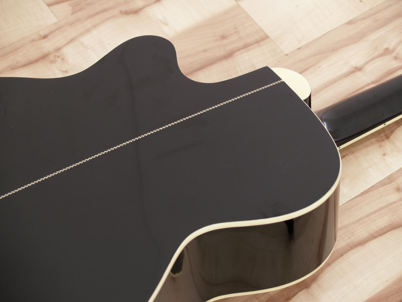 Chitarra acustica, western, colore cutaway nero, abete, DIMAVERY JK-300