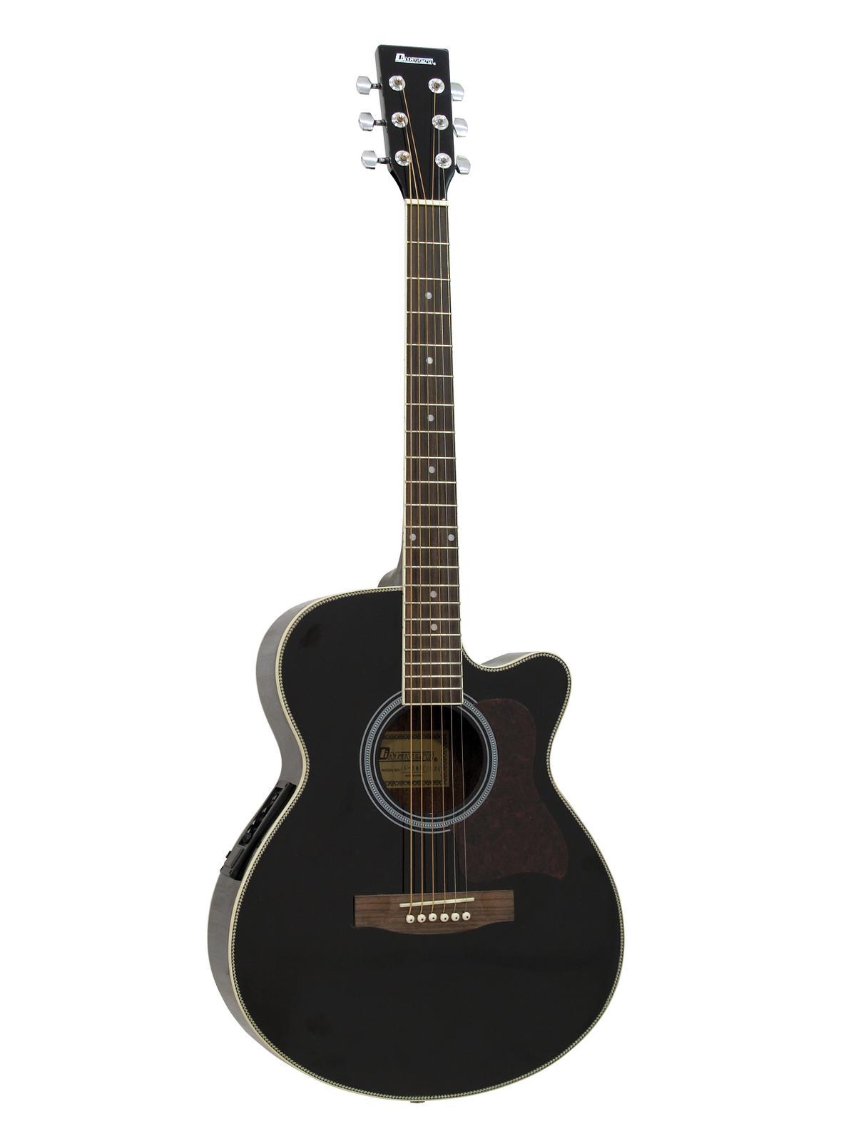DIMAVERY JK-303E cutaway chitarra, nero
