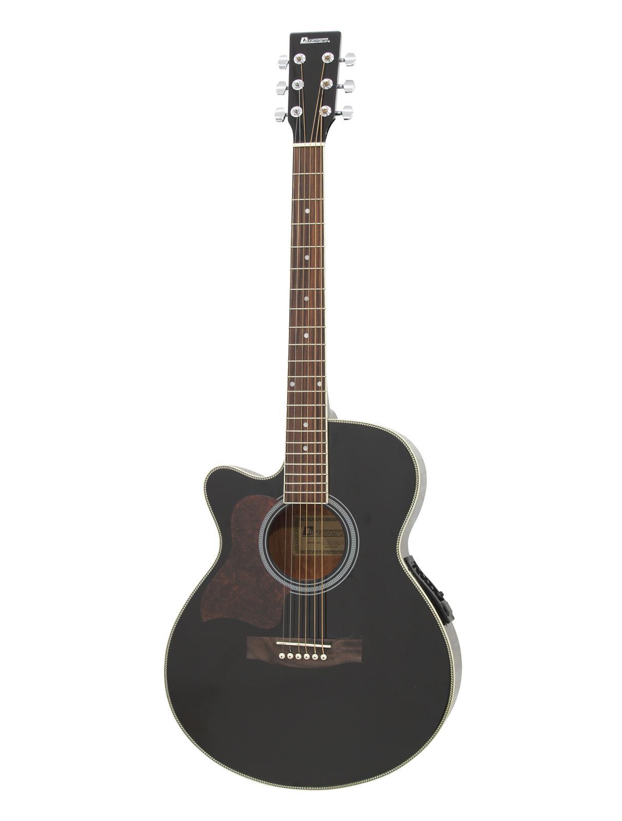 DIMAVERY JK-303L cutaway chitarra, EQ, nero