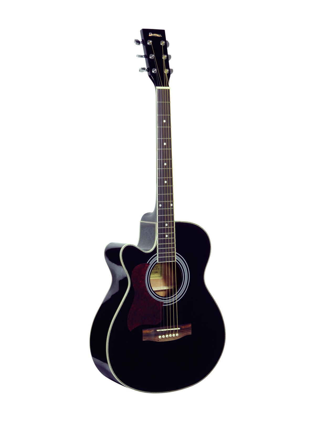 DIMAVERY JK-303L cutaway chitarra, nero