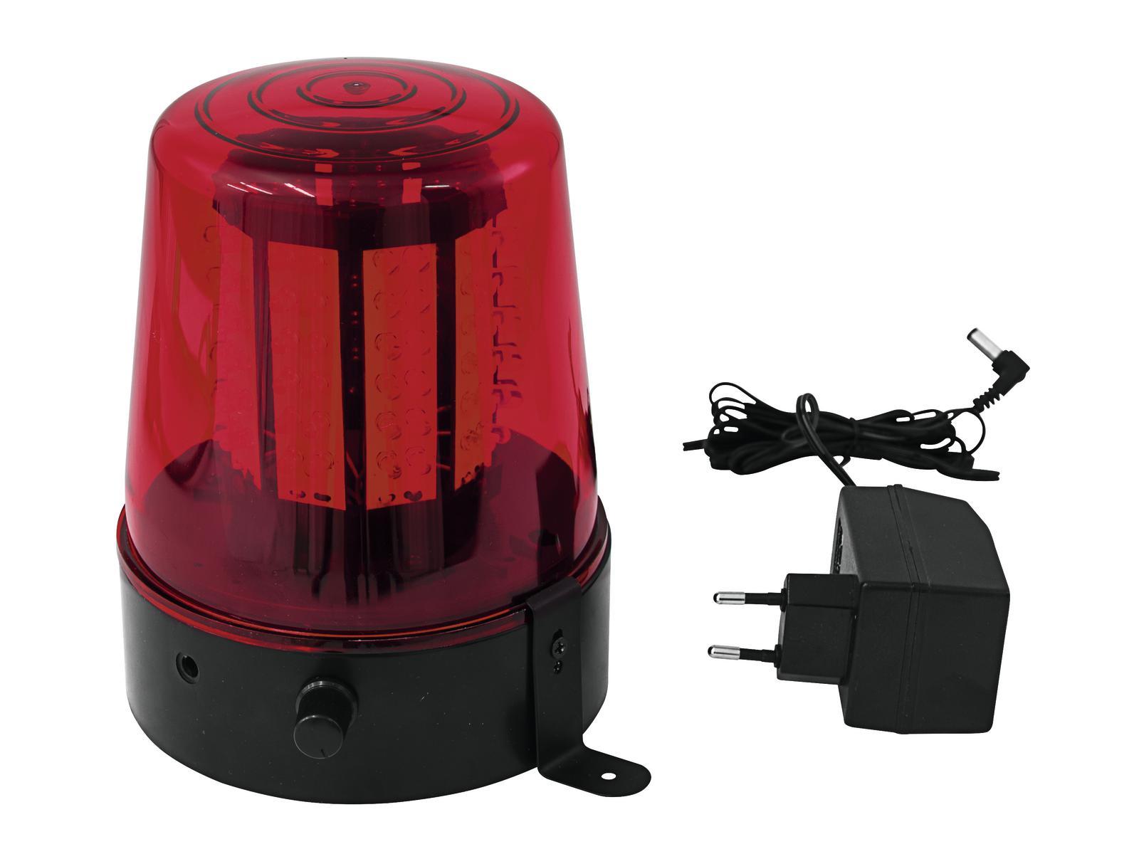 EUROLITE Lampeggiante Polizia 108 Led rosso Classico