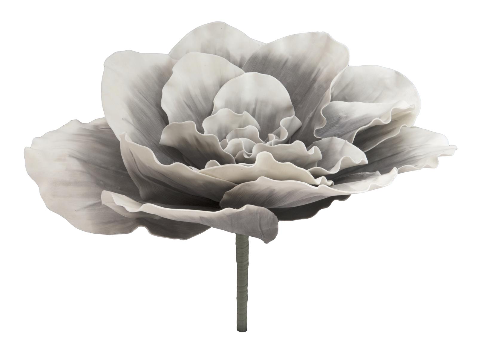 EUROPALMS pianta artificiale FIORE GIGANTE (EVA), grigio pietra, 80cm