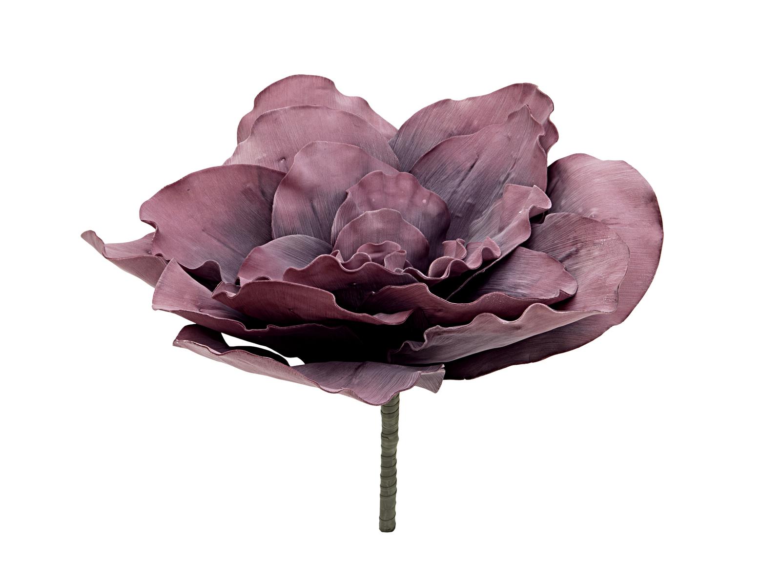 EUROPALMS pianta artificiale FIORE GIGANTE (EVA) rosa antico, 80cm