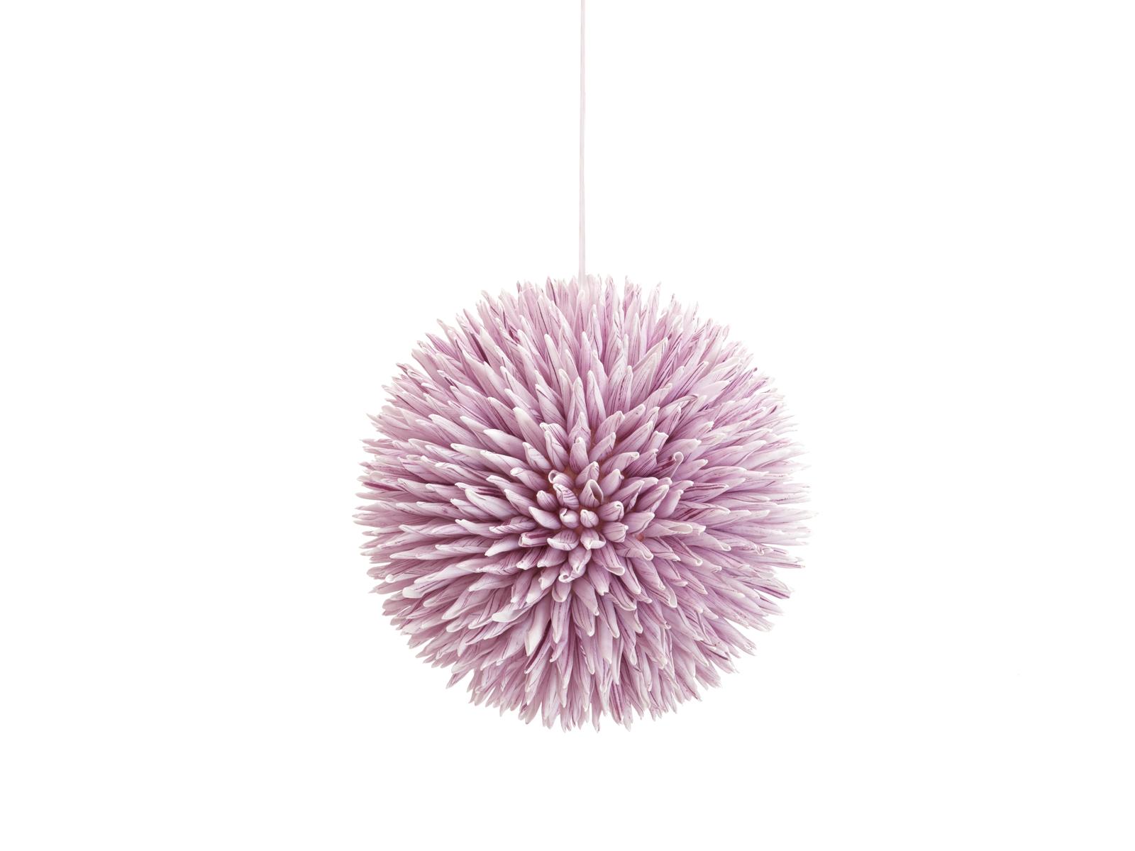 EUROPALMS Sukkulenten Kugel (EVA), Kunstpflanze, rosa, 20cm