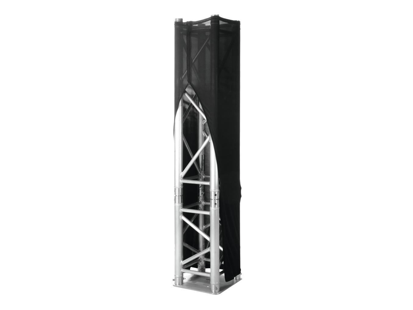 ESPANDERE XPTC15RVS Capriata di copertura di 150 cm, nero