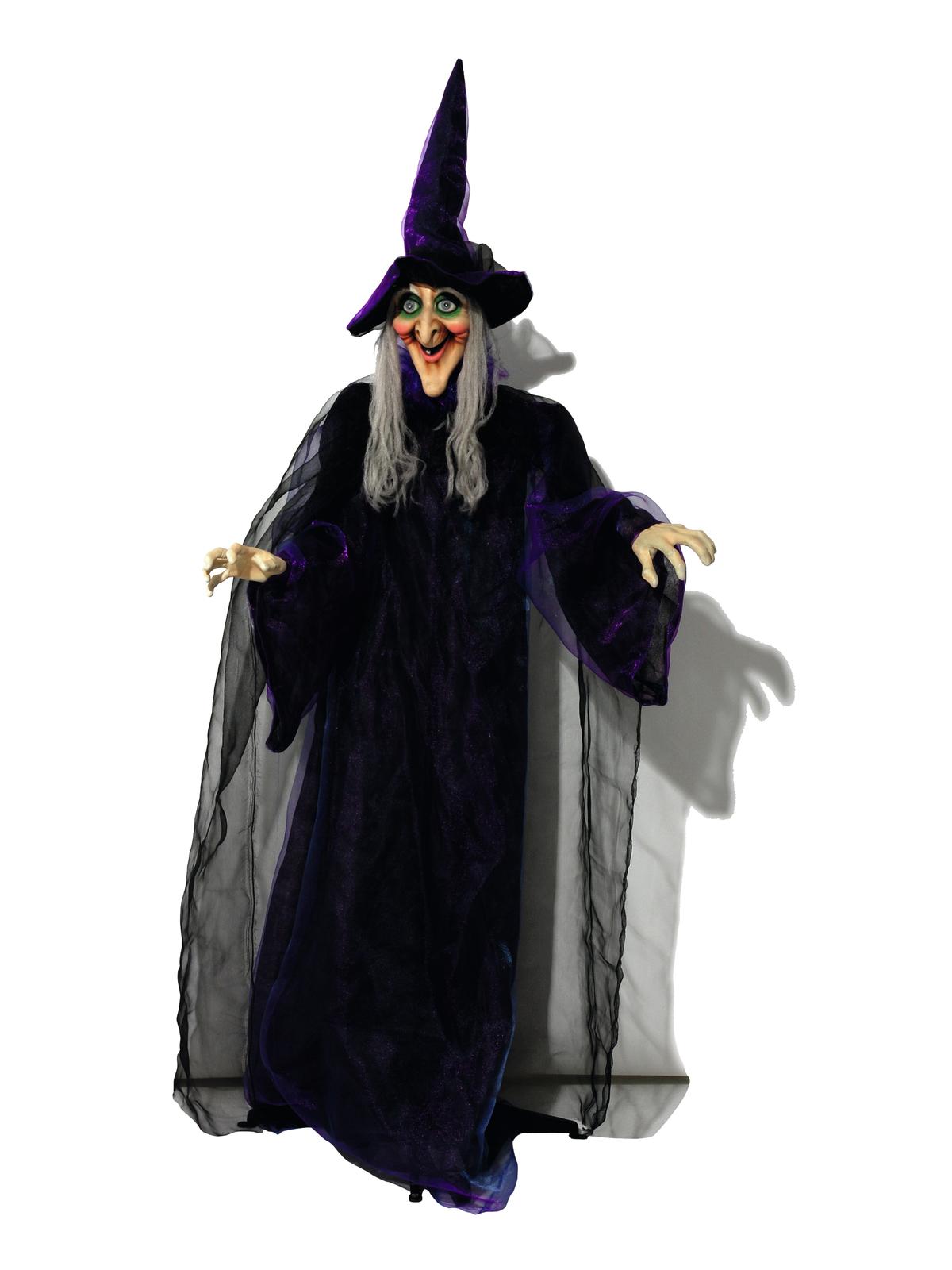 EUROPALMS Halloween Figur Hexe, animiert 175cm
