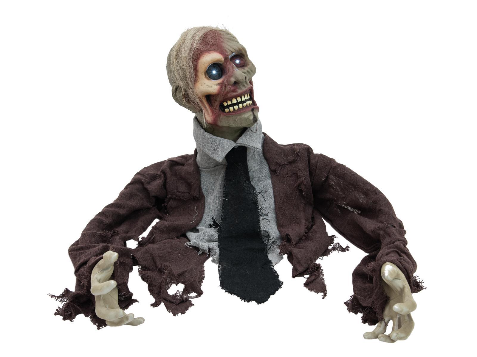 EUROPALMS busto di zombie animato per festa di halloween 40cm