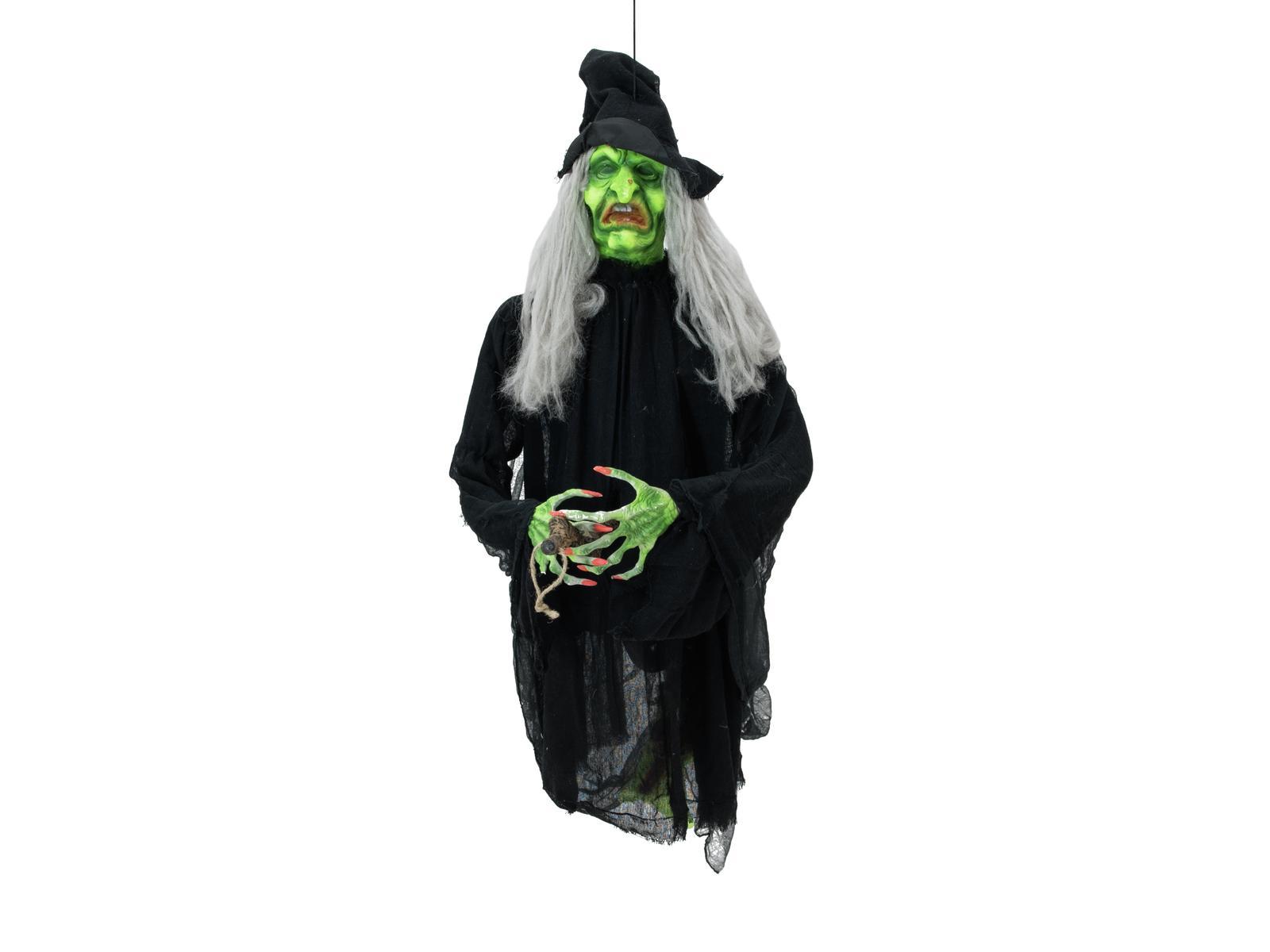 EUROPALMS Halloween pupazzo Strega Volante con luce e suono 140cm