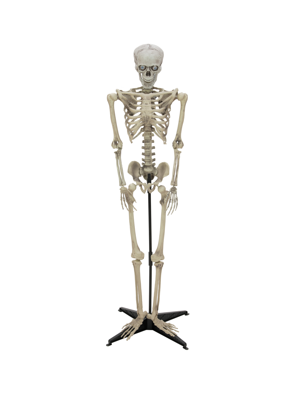 EUROPALMS Halloween Figura animata scheletro con LED 163cm