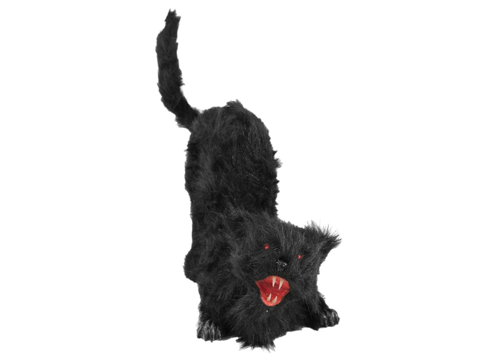 EUROPALMS decorazione figura di un gatto vampiro nero per halloween