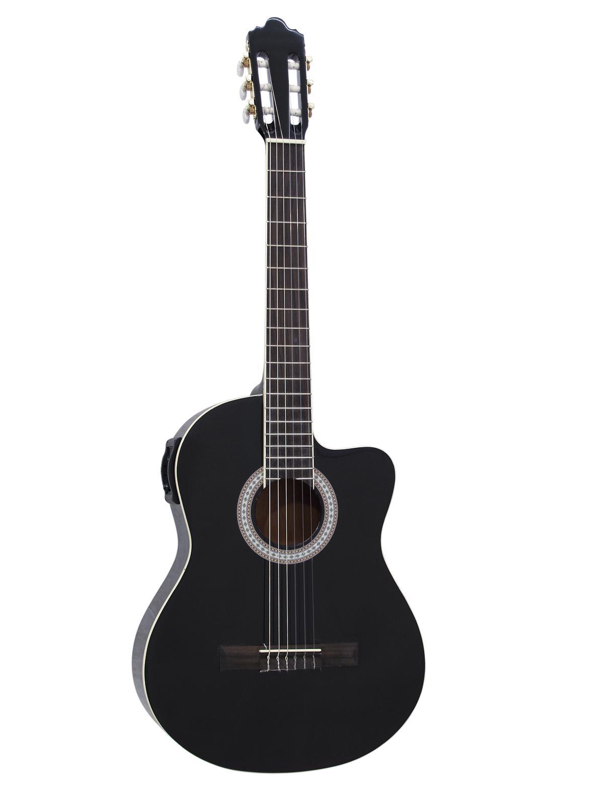 DIMAVERY CN-500 chitarra classica, nero